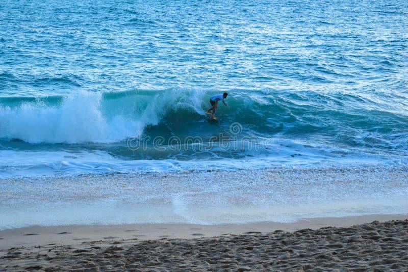 Uomo sull'acqua immagini stock libere da diritti