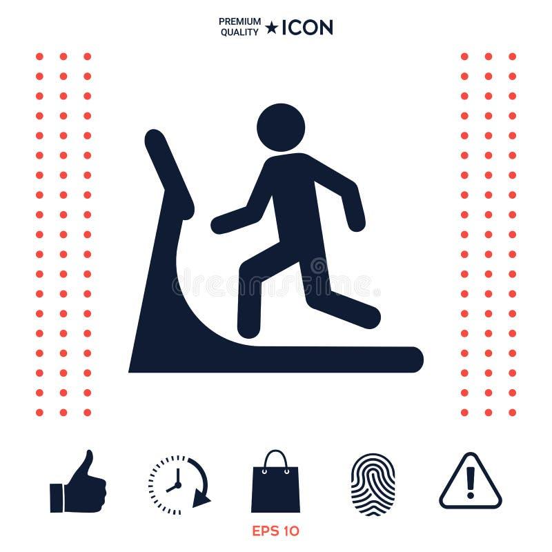 Download Uomo Sull'icona Della Pedana Mobile Illustrazione Vettoriale - Illustrazione di salute, background: 117975858