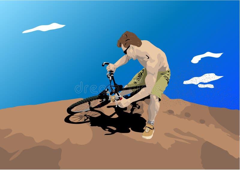 Download Uomo Sulla Bici Della Sporcizia Illustrazione Vettoriale - Illustrazione di uomo, bici: 3878589
