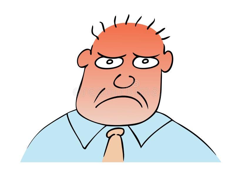 Uomo tenebroso di vettore illustrazione di stock