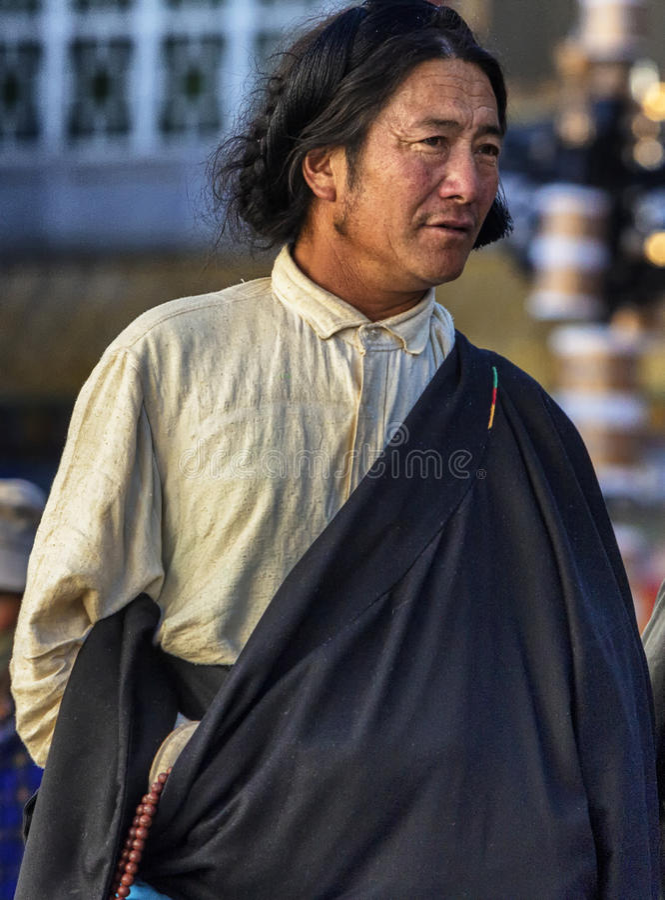 Uomo tibetano immagine stock libera da diritti