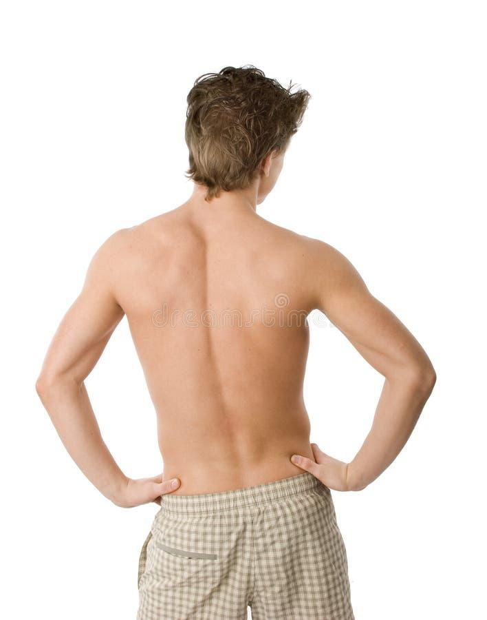 Uomo Topless immagine stock