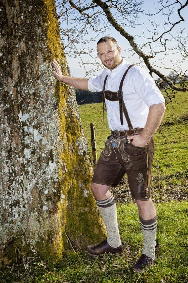 Uomo tradizionale bavarese fotografia stock