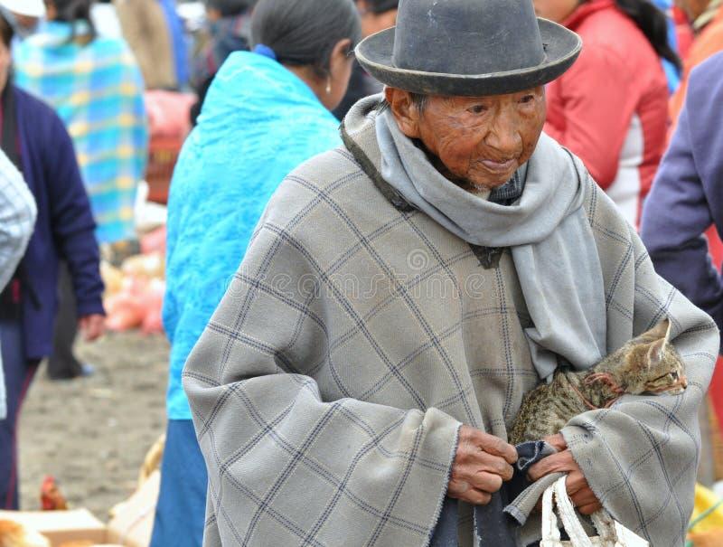 Uomo tradizionale del Ecuadorian immagini stock libere da diritti