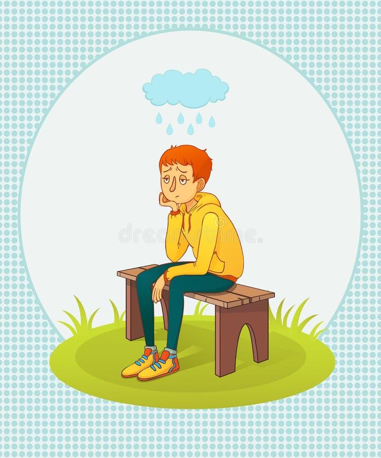 Uomo triste royalty illustrazione gratis
