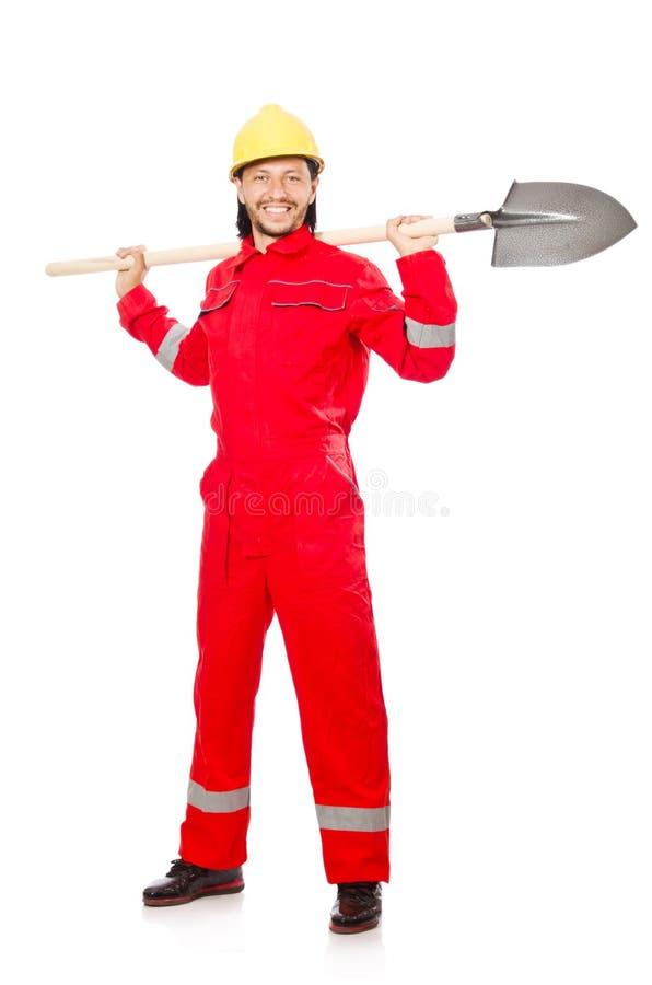 Uomo in tute rosse immagine stock libera da diritti