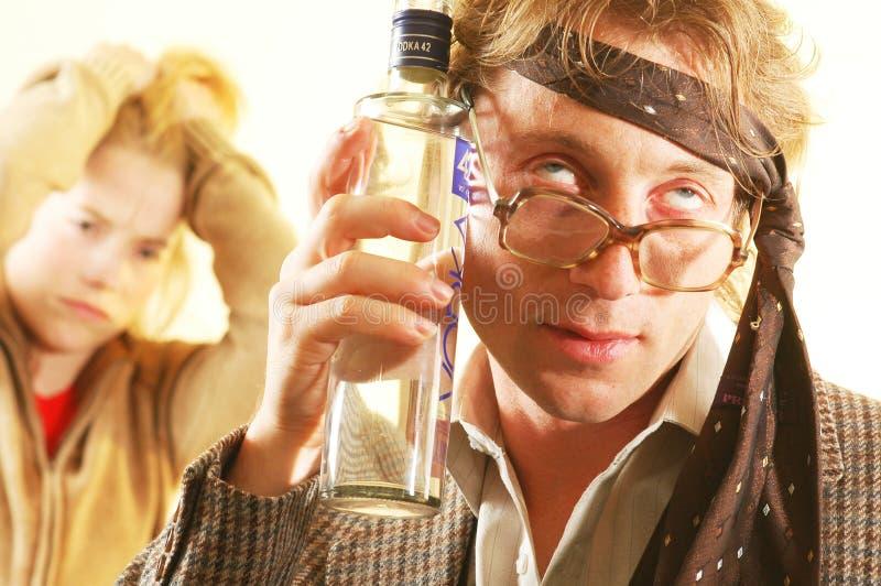 Uomo ubriaco fotografia stock