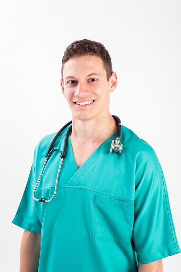 Uomo in uniforme medica immagine stock libera da diritti