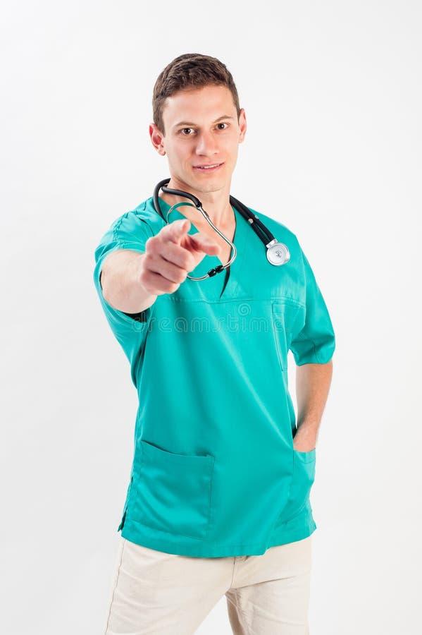 Uomo in uniforme medica fotografia stock libera da diritti
