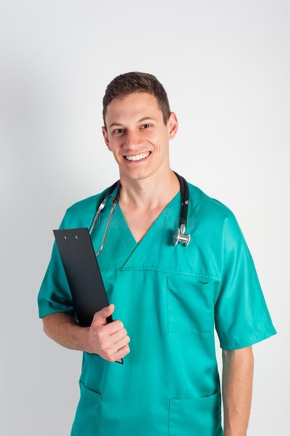 Uomo in uniforme medica fotografia stock