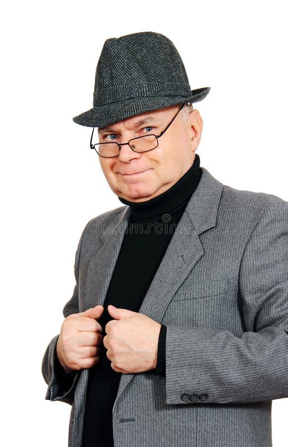 Uomo in vestito e cappello. fotografia stock libera da diritti