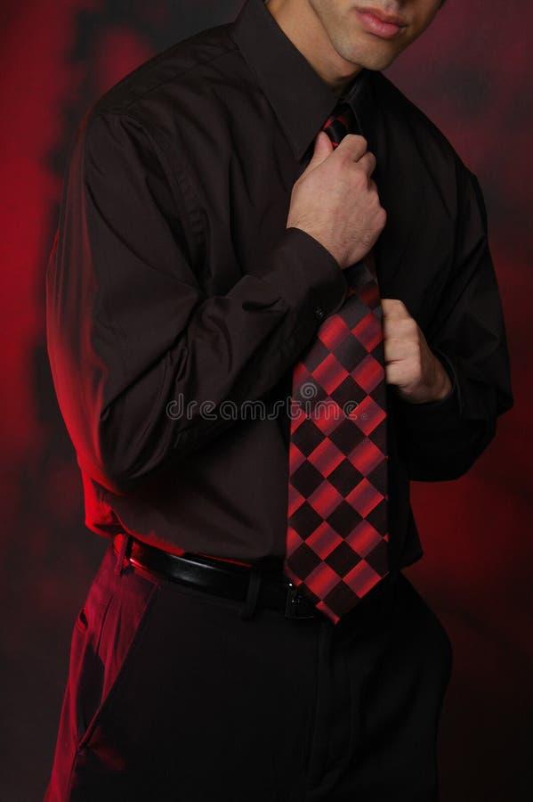 Uomo vestito marcato immagini stock