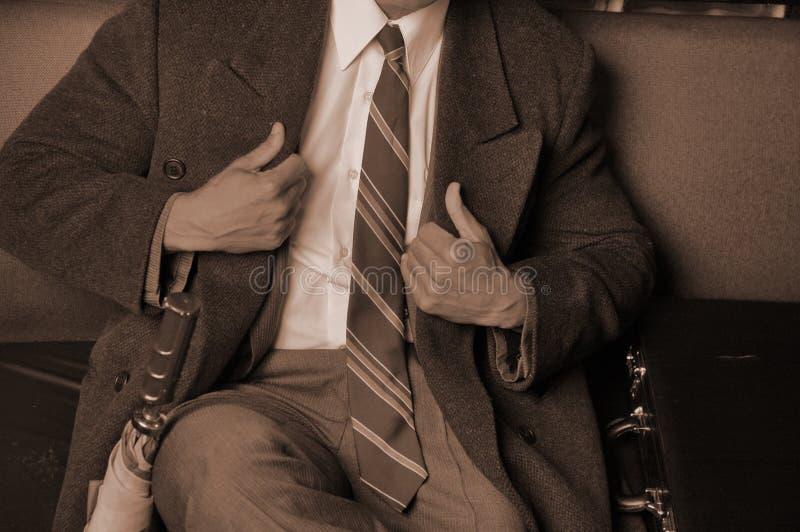 Uomo vestito marcato di affari fotografia stock libera da diritti