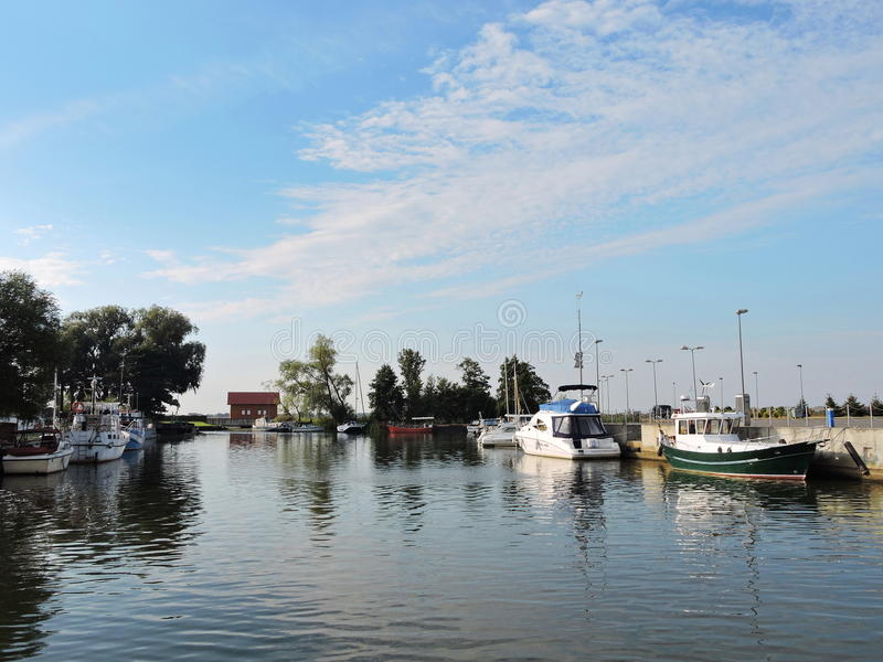 Uostadvaris wioski Marina, Lithuania obrazy stock