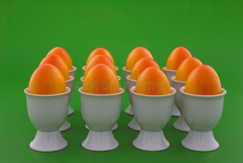 Uova in arancio fotografia stock