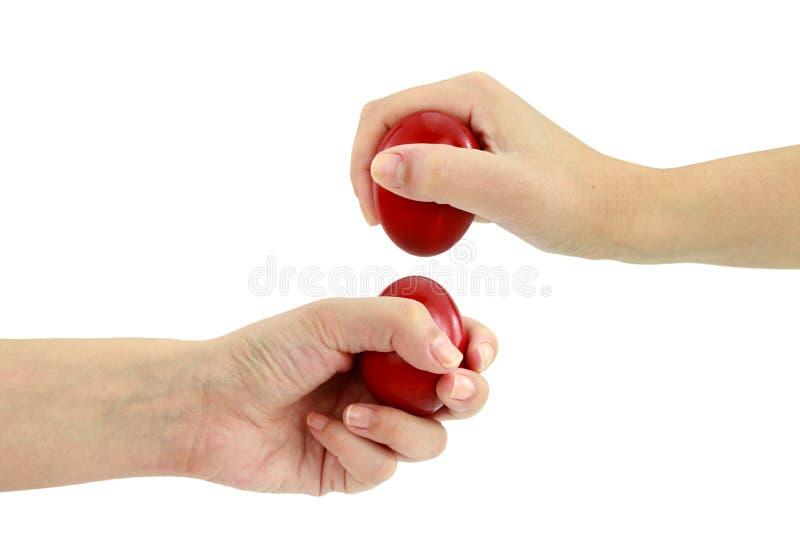 Uova che si fendono a Pasqua immagine stock libera da diritti