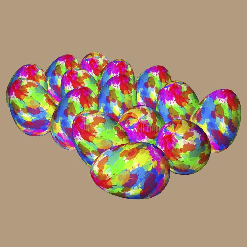 Uova colorate illustrazione vettoriale