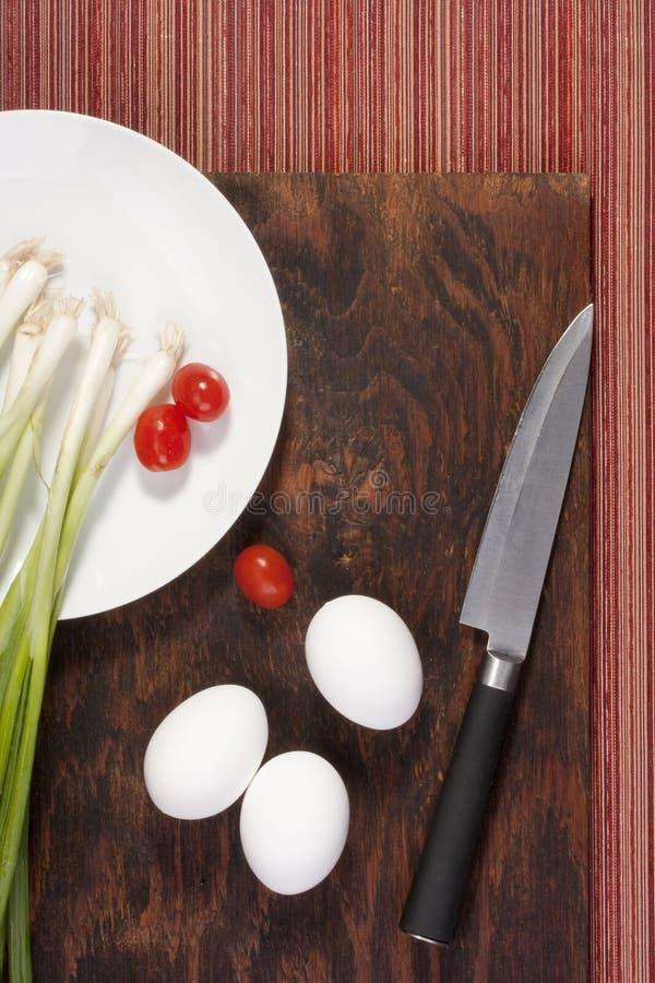 Uova con le verdure immagini stock