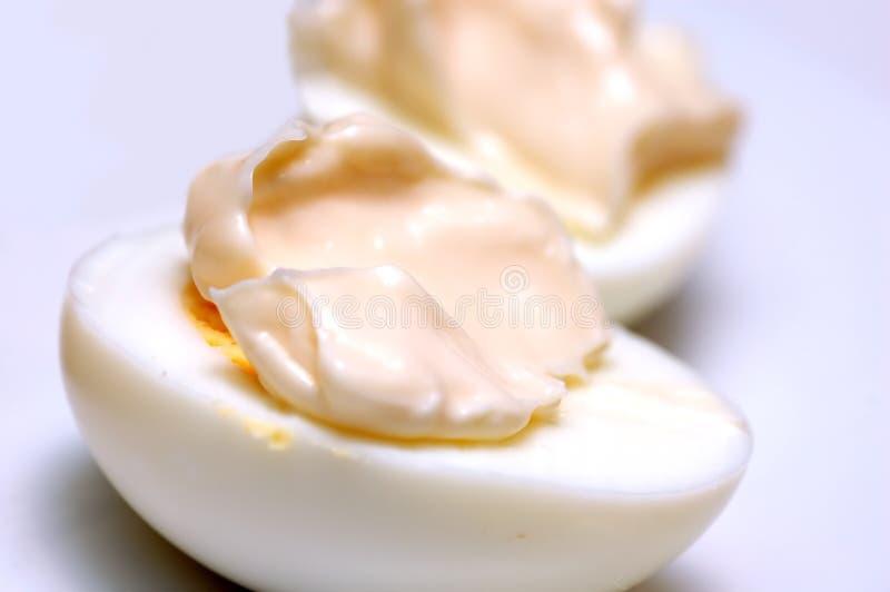 Uova con maionese immagine stock libera da diritti