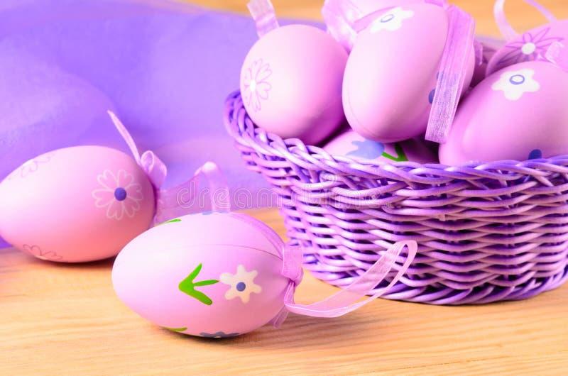 Uova decorative di Pasqua fotografia stock libera da diritti