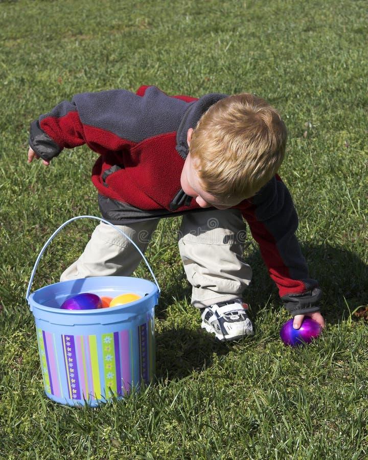 Uova di caccia del neonato immagini stock