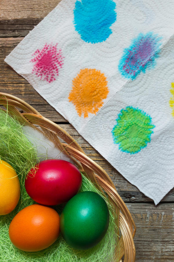 Uova di festa di Pasqua fotografie stock