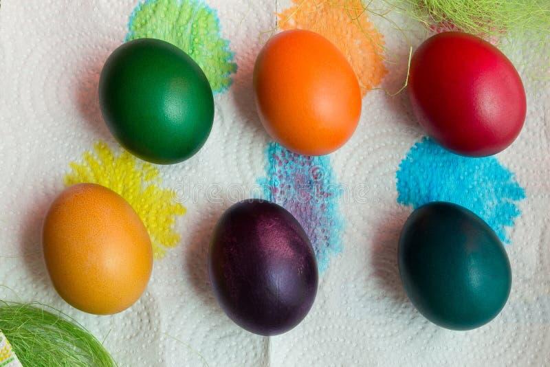 Uova di festa di Pasqua fotografia stock