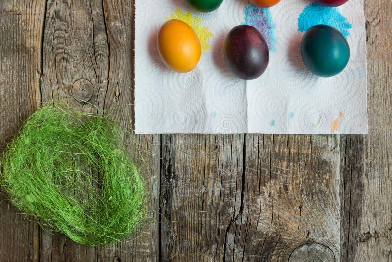 Uova di festa di Pasqua immagine stock
