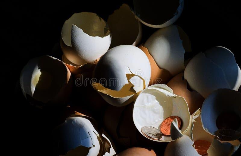 Uova di nido rotte III fotografia stock libera da diritti