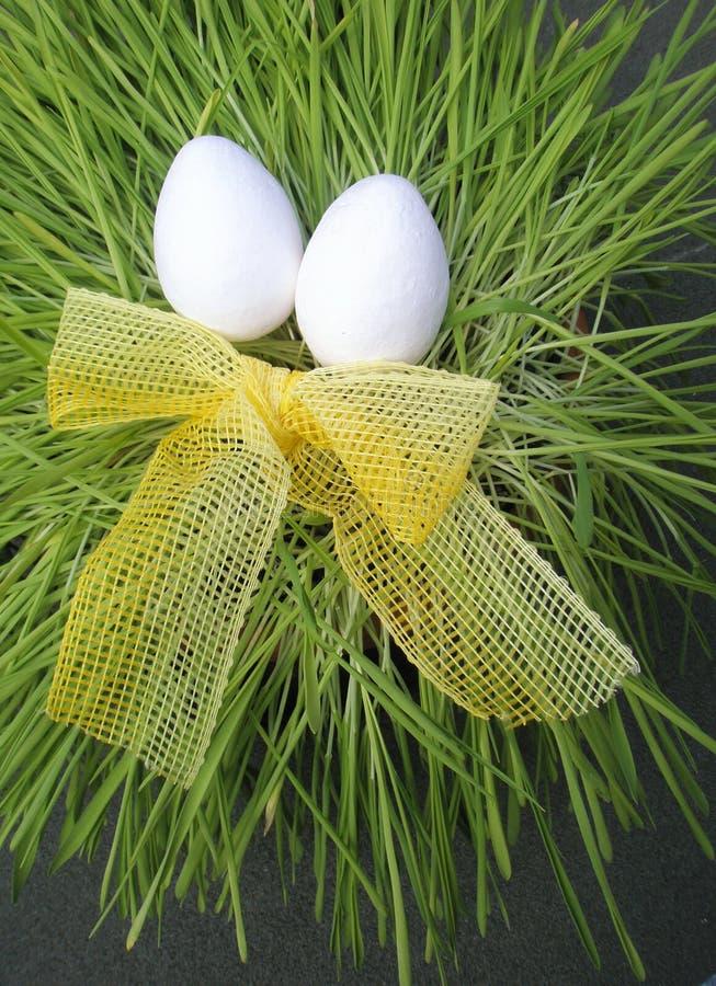 Uova di Pasqua Bianche immagini stock