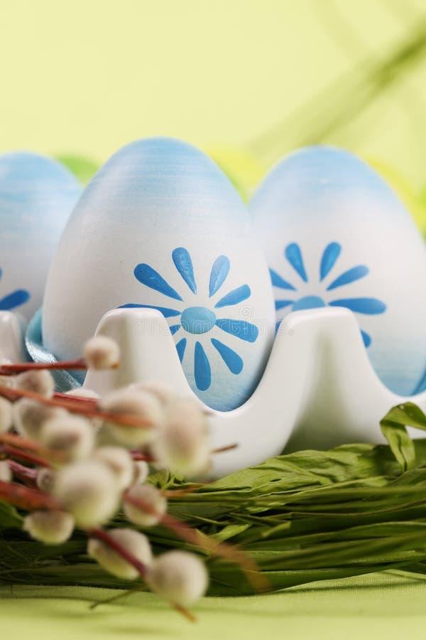 Uova di Pasqua Blu immagini stock