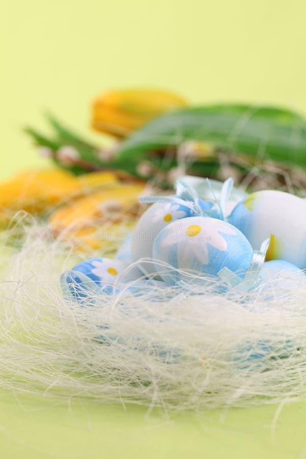 Uova di Pasqua Blu fotografia stock libera da diritti