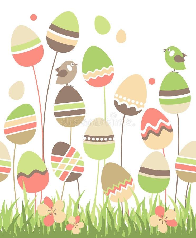 Uova di Pasqua crescenti illustrazione vettoriale