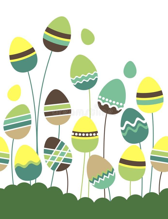 Uova di Pasqua crescenti illustrazione di stock