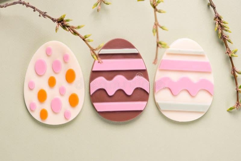 Uova di Pasqua del cioccolato immagini stock libere da diritti