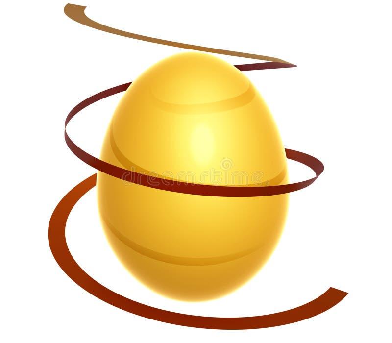 Uova di Pasqua dell'oro dell'oro royalty illustrazione gratis