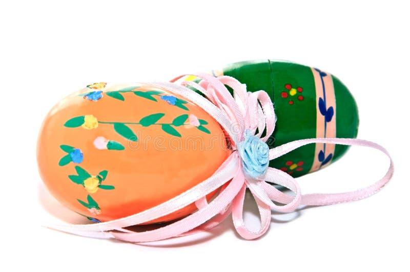 Uova di Pasqua Dipinte a mano variopinte fotografia stock libera da diritti