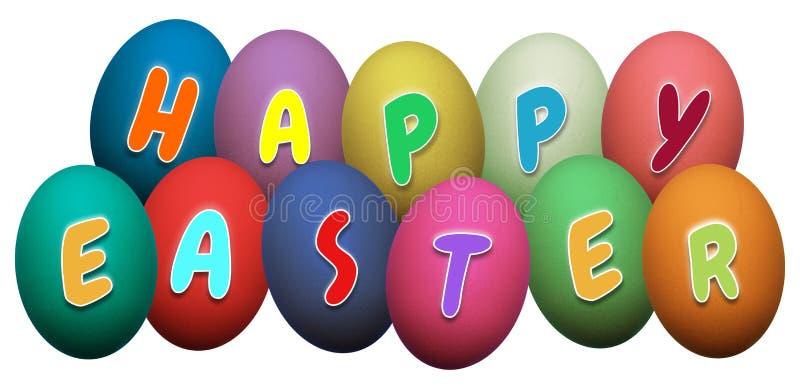 Uova di Pasqua felici illustrazione di stock