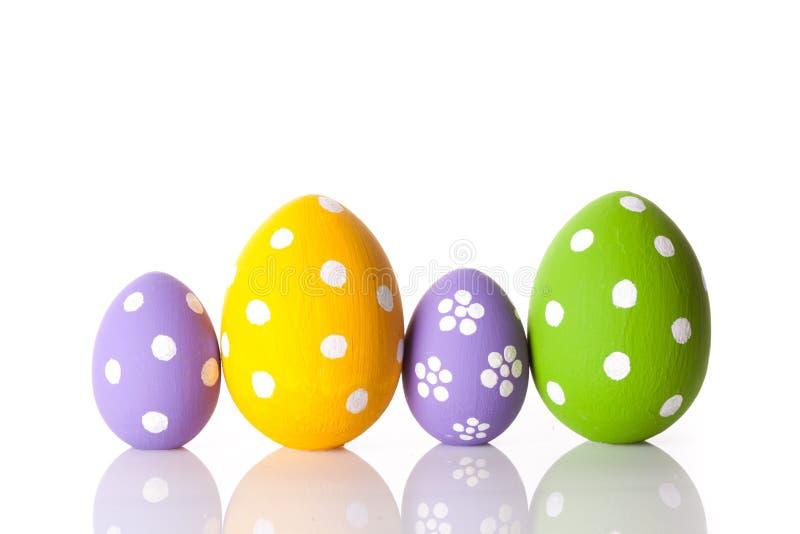 Uova di Pasqua Isolate su bianco fotografie stock libere da diritti