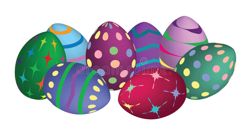 Uova di Pasqua Moderne immagine stock