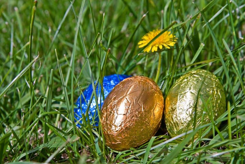 Uova di Pasqua Nell'erba immagini stock
