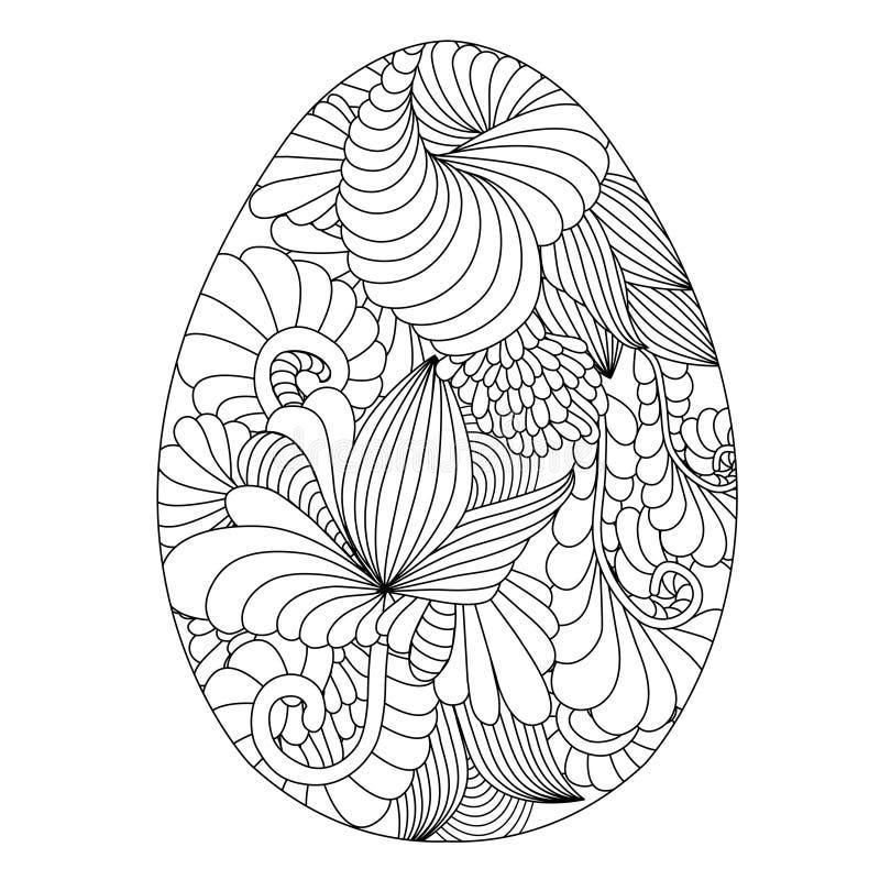 Uova di pasqua ornamentali disegnate a mano per il libro - Uova di pasqua decorati a mano ...