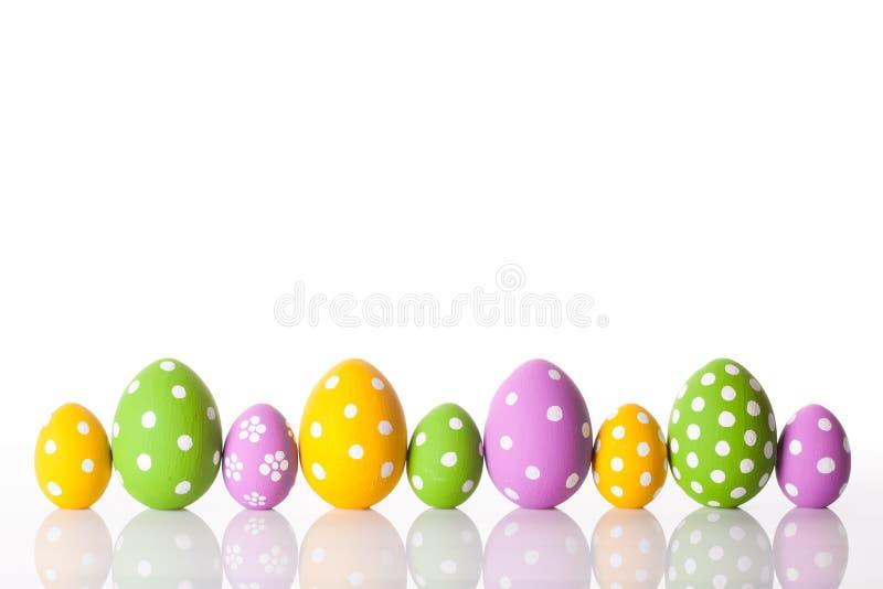 Uova di Pasqua Su bianco immagine stock