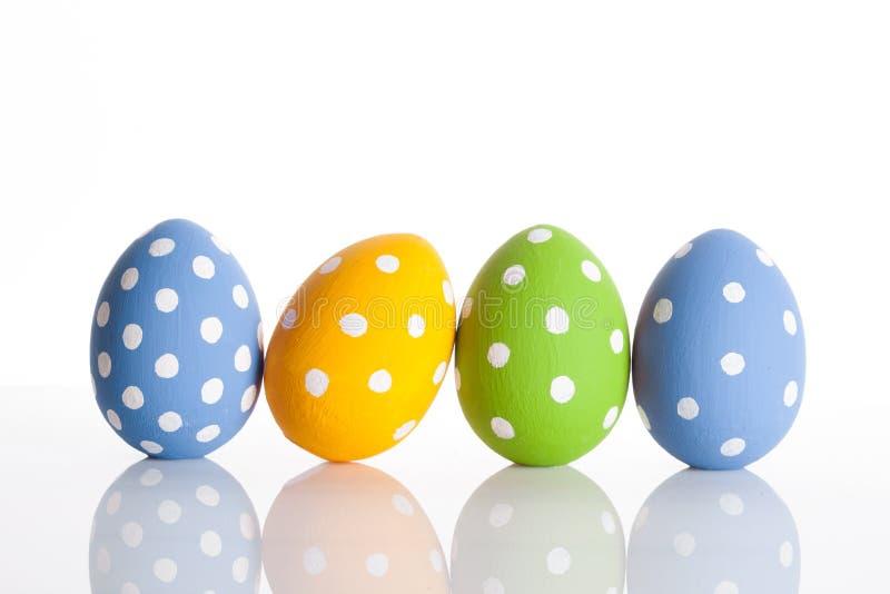 Uova di Pasqua Su bianco fotografia stock