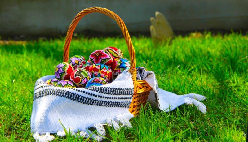 Uova di Pasqua tradizionali immagini stock