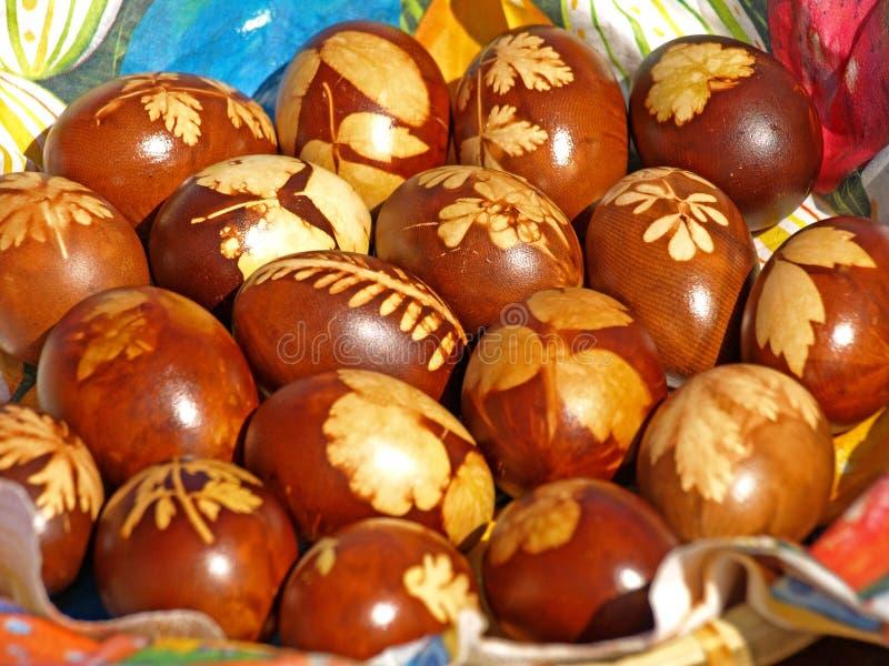Uova di Pasqua Tradizionali rumene fotografie stock
