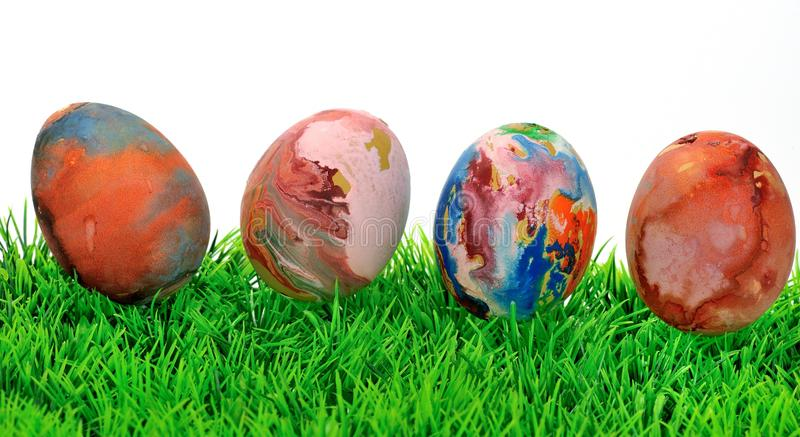 Uova di Pasqua variopinte II fotografia stock