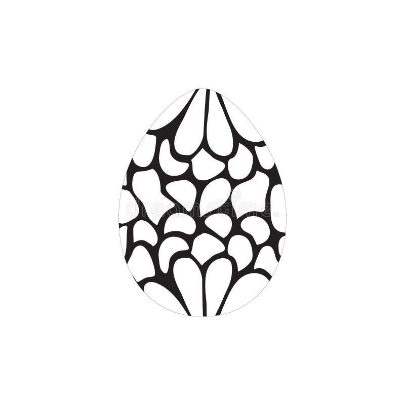 Uova disegnate a mano dell'inchiostro per la cartolina d'auguri di Pasqua, progettazione d'annata illustrazione vettoriale