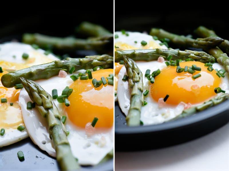 Uova ed asparago fotografia stock