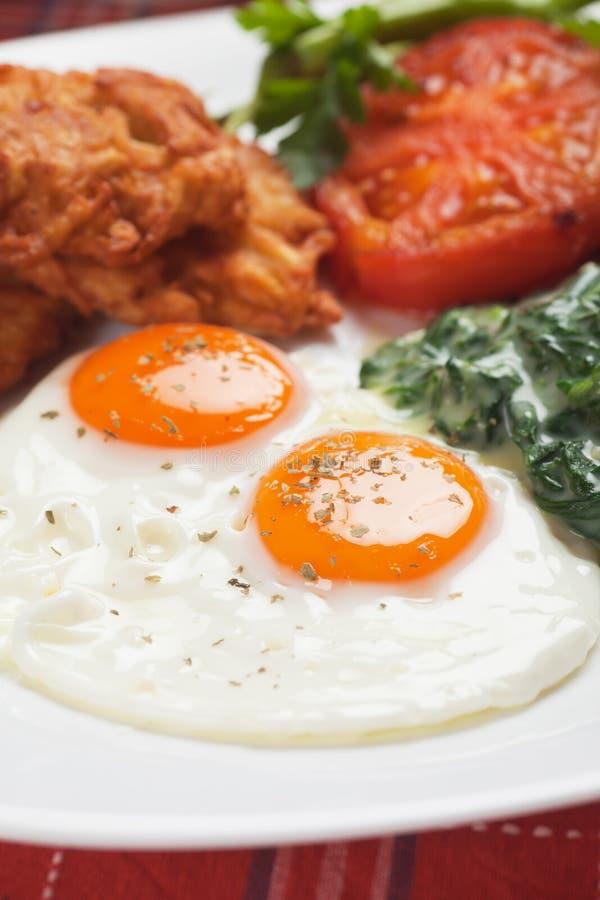 Uova fritte per la prima colazione immagini stock
